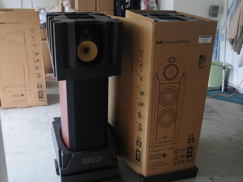 B & W 802D ( Diamond) in Mahogany Cherry Finish  Speaker