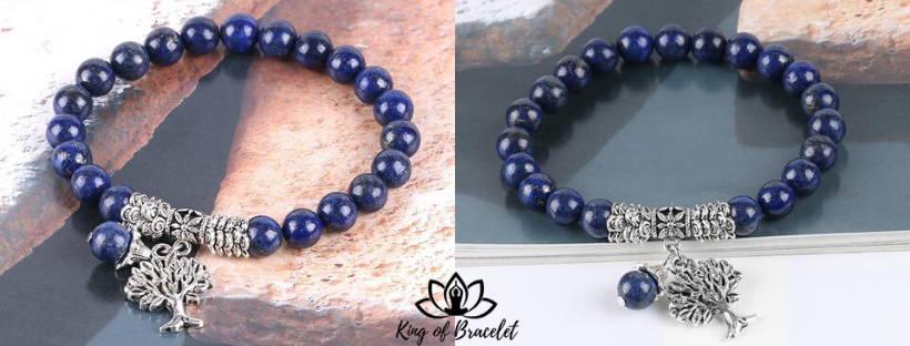 Bracelet Arbre de Vie en Lapis Lazuli - King of Bracelet