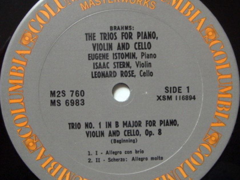Columbia / STERN-ROSE-ISTOMIN TRIO, - Brahms Trios for Piano, Violin & Cello, MINT, 2LP Box Set!