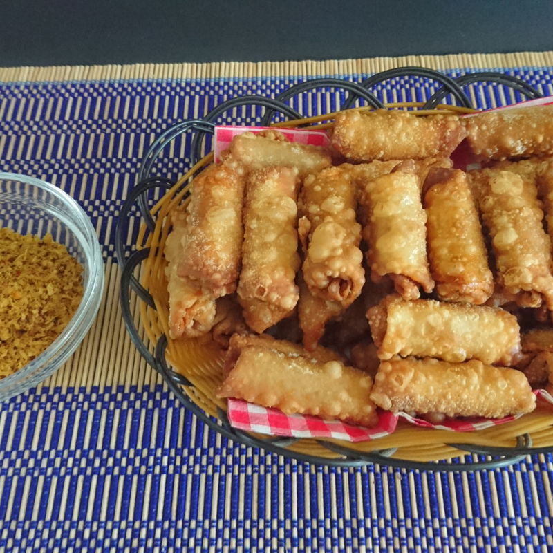 Date: 9 Dec 2019 (Mon) 16th Snack: Armadale Spring Roll/Chicken Pox Spring Roll [138] [128.3%] [Score: 10.0] Author: Robin Cuisine: Malaysian/Australian Dish Type: Snack  Introduction The making of this spring roll was inspired by my daughter Celastra, to make use of the excess spicy coconut filling from my Hippopotamus Fritters. The spicy coconut filling was already a 10.0 with the supper crispy wonton skin as the wrapper; the snack scored an obvious 10.0 if not 10.0+!   It is called Armadale Spring Roll in honour of my guests coming to dinner tonight and Chicken Pox Spring Roll just to give an alternative name to it.    This is going to be my first recipe for Nyonya Cooking. Shall post it in due time. Now, very preoccupied with logistics.