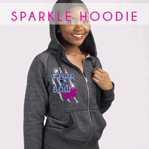 glitterstarz bling basics sparkle hoodie zip up jacket grey