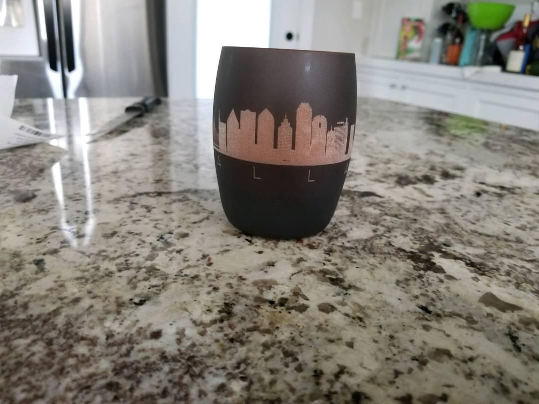 Custom Engraved Glass Votive Holder