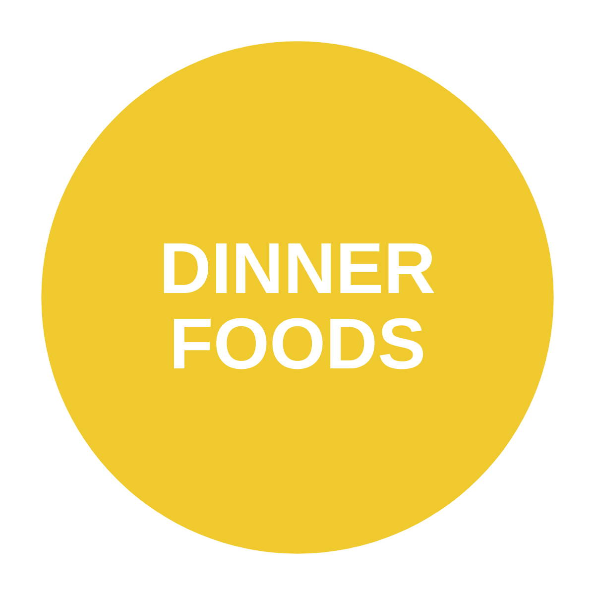 Yellow dinner foods icon