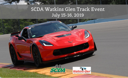 SCDA- Watkins Glen- 2 Day Track Event- JULY 15-16