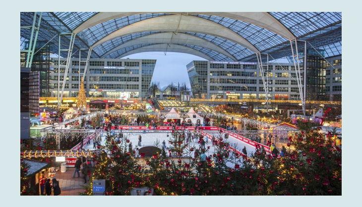 bester geburtstagde flughafen münchen impressionen event bereich weihnachten