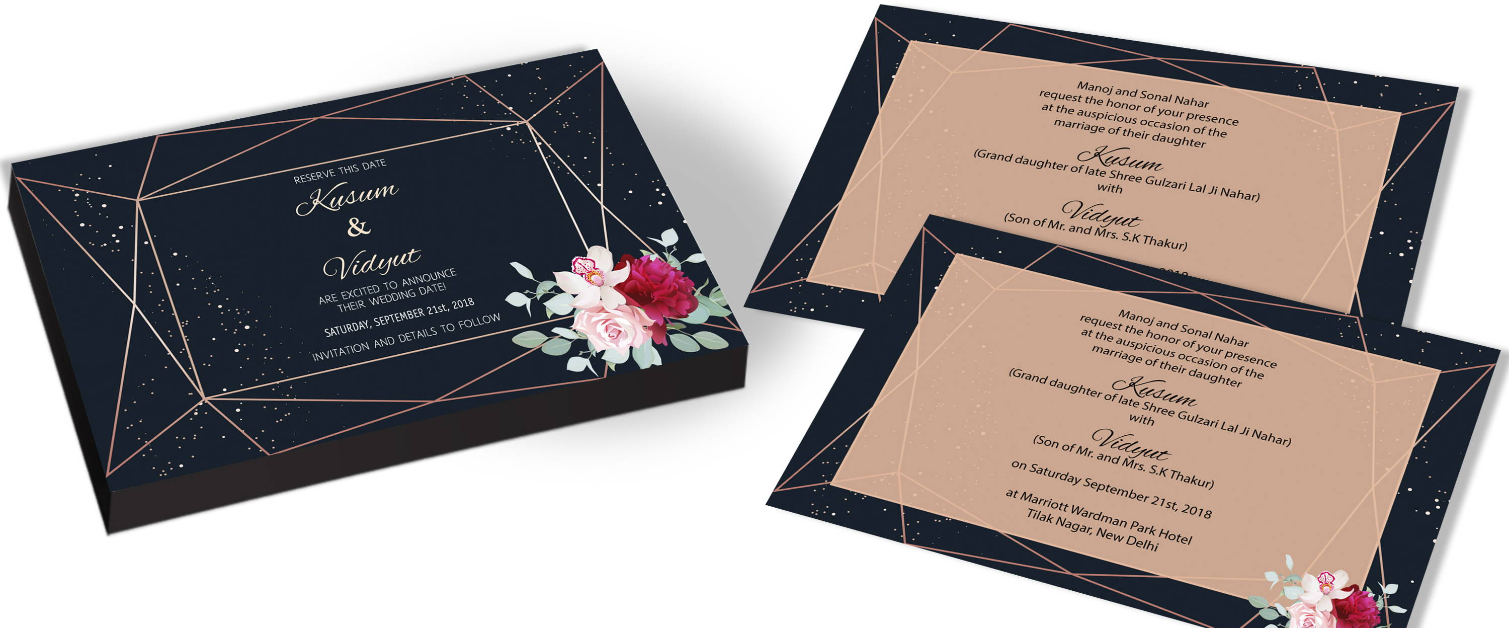Customised Modern Wedding Invitations