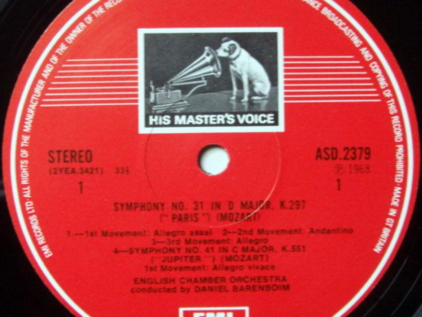 EMI ASD STAMP-DOG / BARENBOIM, - Mozart Symphonies No.31 Paris & 41 jupiter MINT!