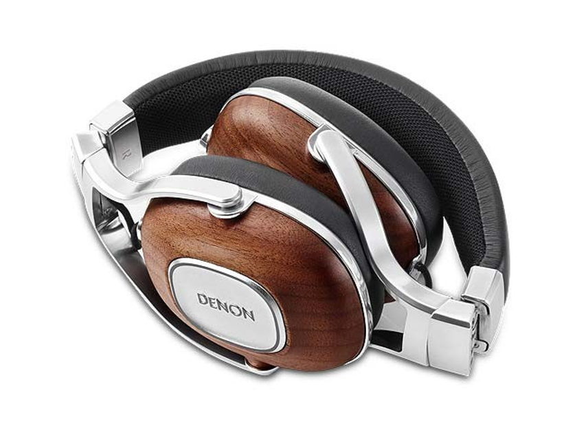 Denon  Music Maniac AH-MM400  Over-Ear Headphones with Mic - Wood