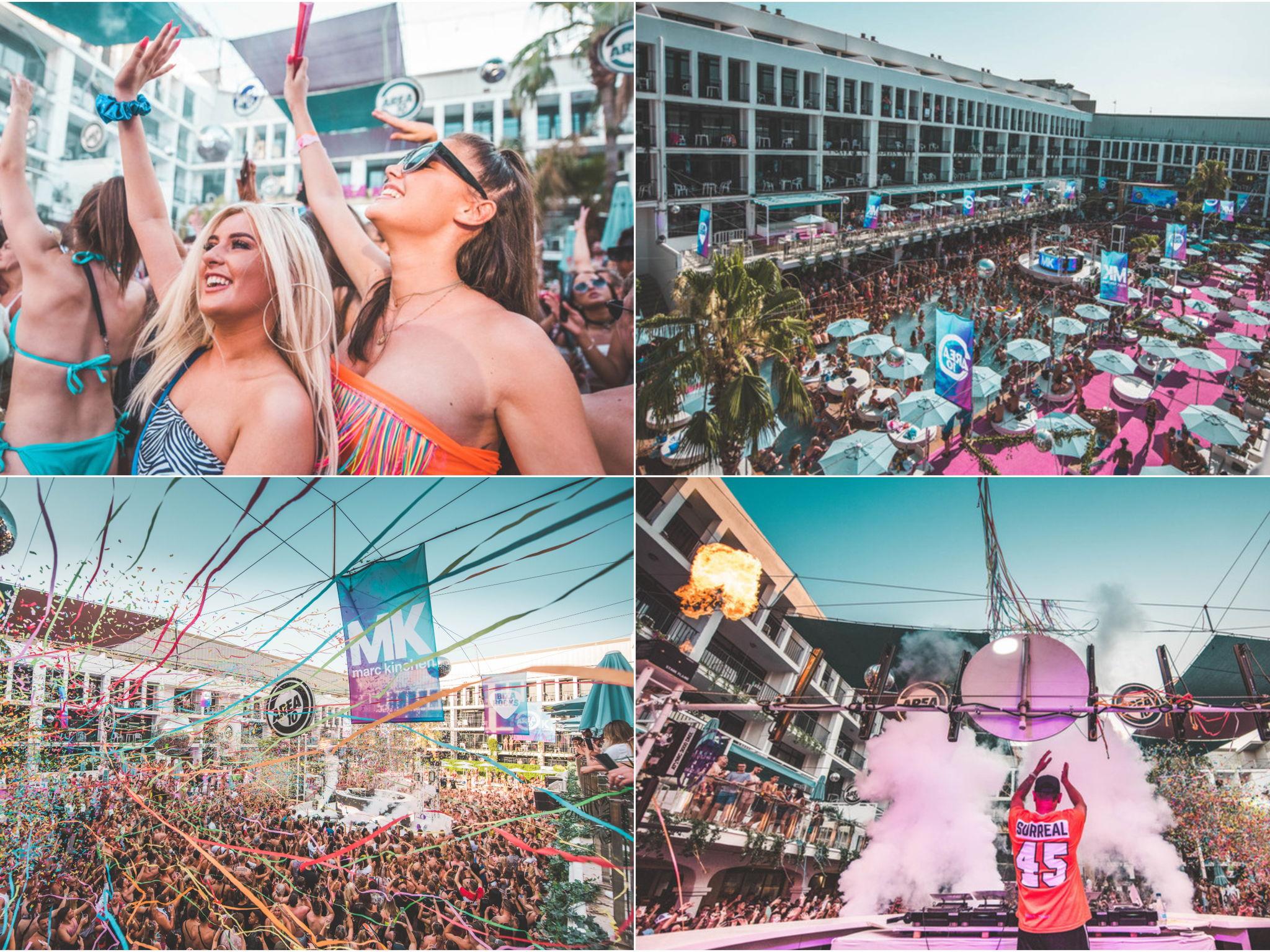 Area 10 MK pool party Ibiza rocks image gallery
