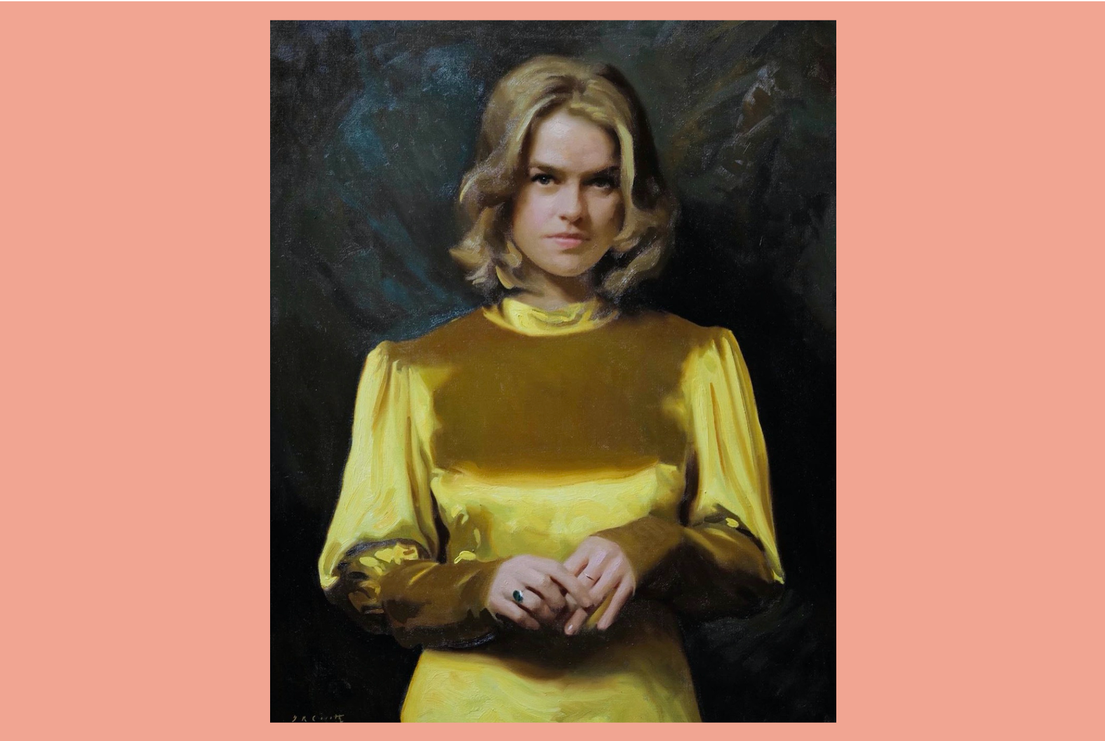 Jamie Coreth's portrait painting of actress Alice Eve
