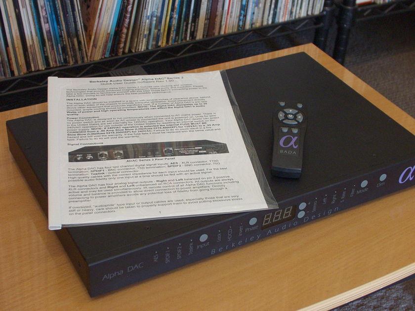 Berkeley Audio Design Alpha DAC Series 2 less than a year old
