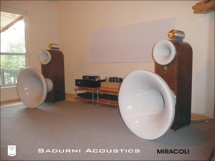 Sadurni Acoustics Miracoli 4 Way Horn Loaded Speakers