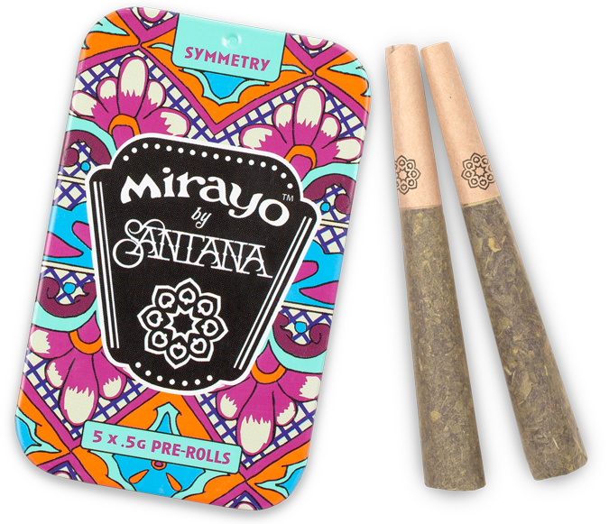image of Mirayo hybrid cannabis tin and joints