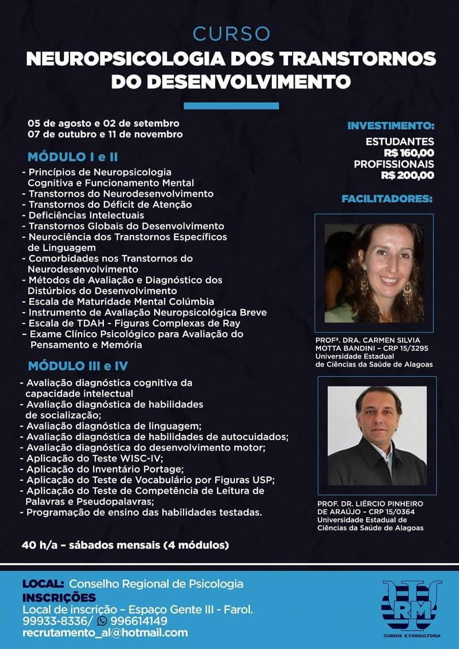 Curso Neuropsicologia dos Transtornos do Desenvolvimento