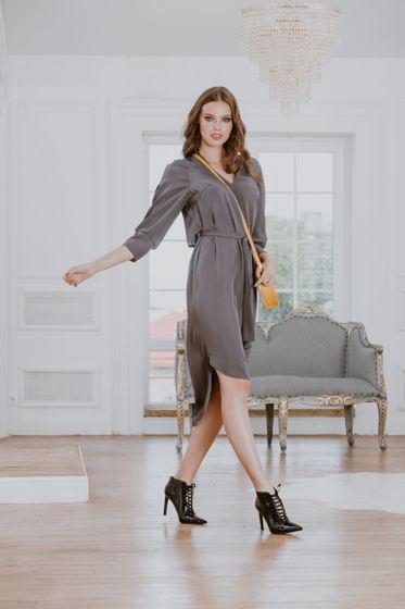 Платье  серое Bonali 4074-0608