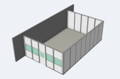 3 wall inplant office quickship