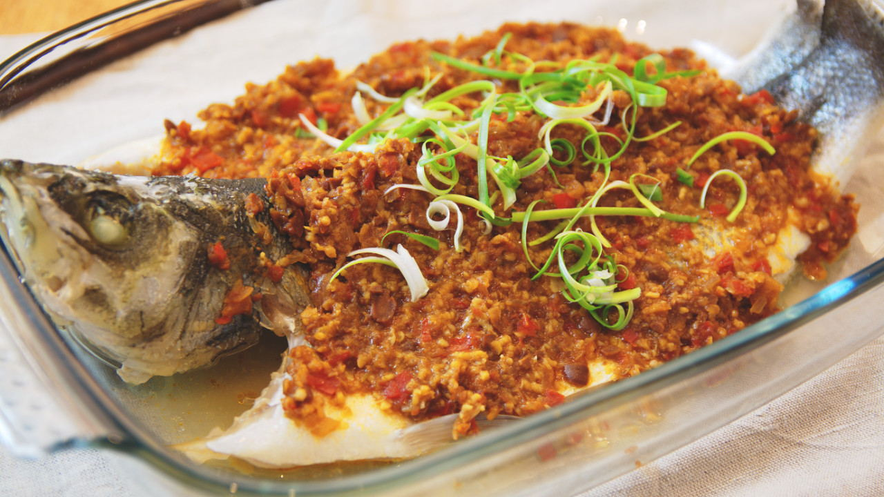 Steamed Fish with Fermented Bean Paste