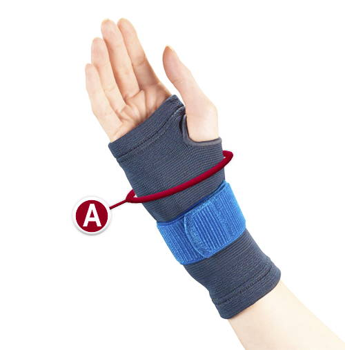 WRIST SUPPORT MEASURMENT LOCATION