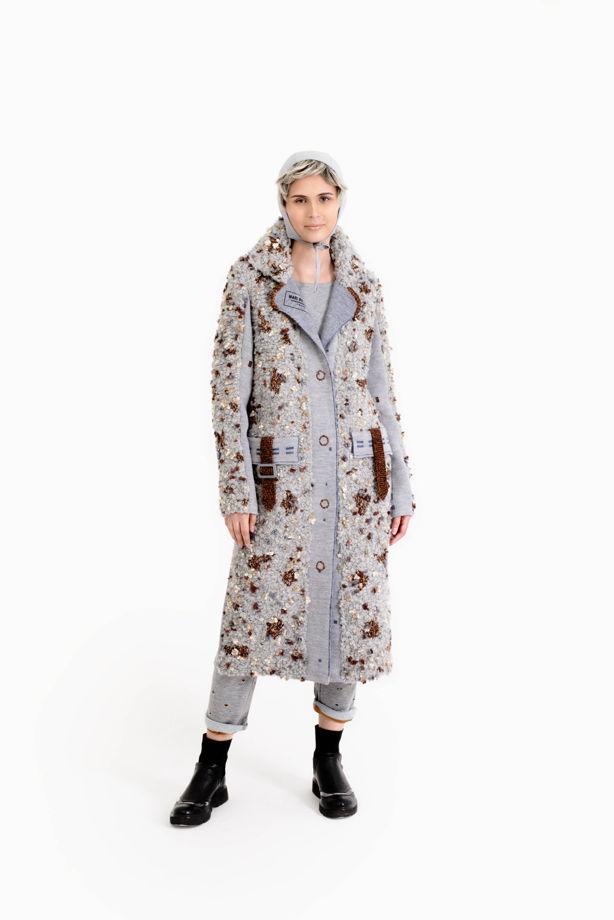 """Буклированное пальто """"U+2648"""""""