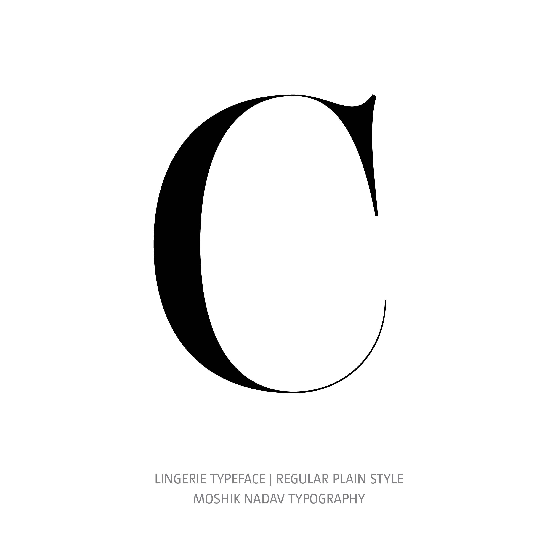 Lingerie Typeface Regular Plain C