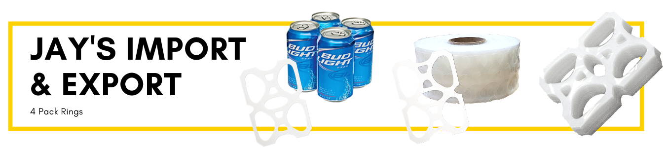 Jays Import & Export 4 Pack Can Rings