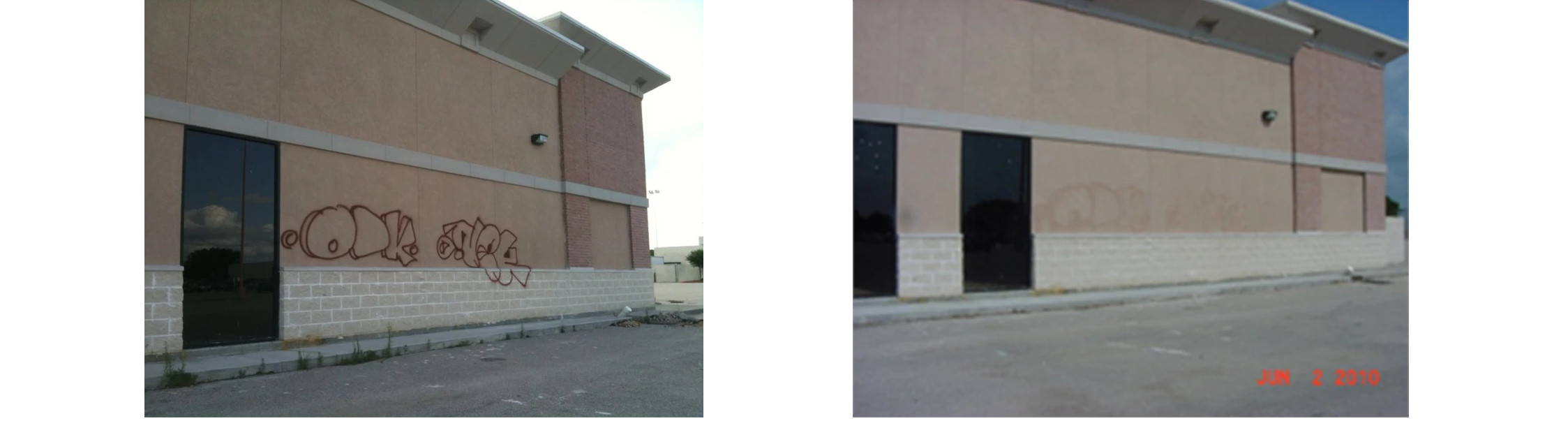 remove graffit from stucco and exterior insulation finishing systems