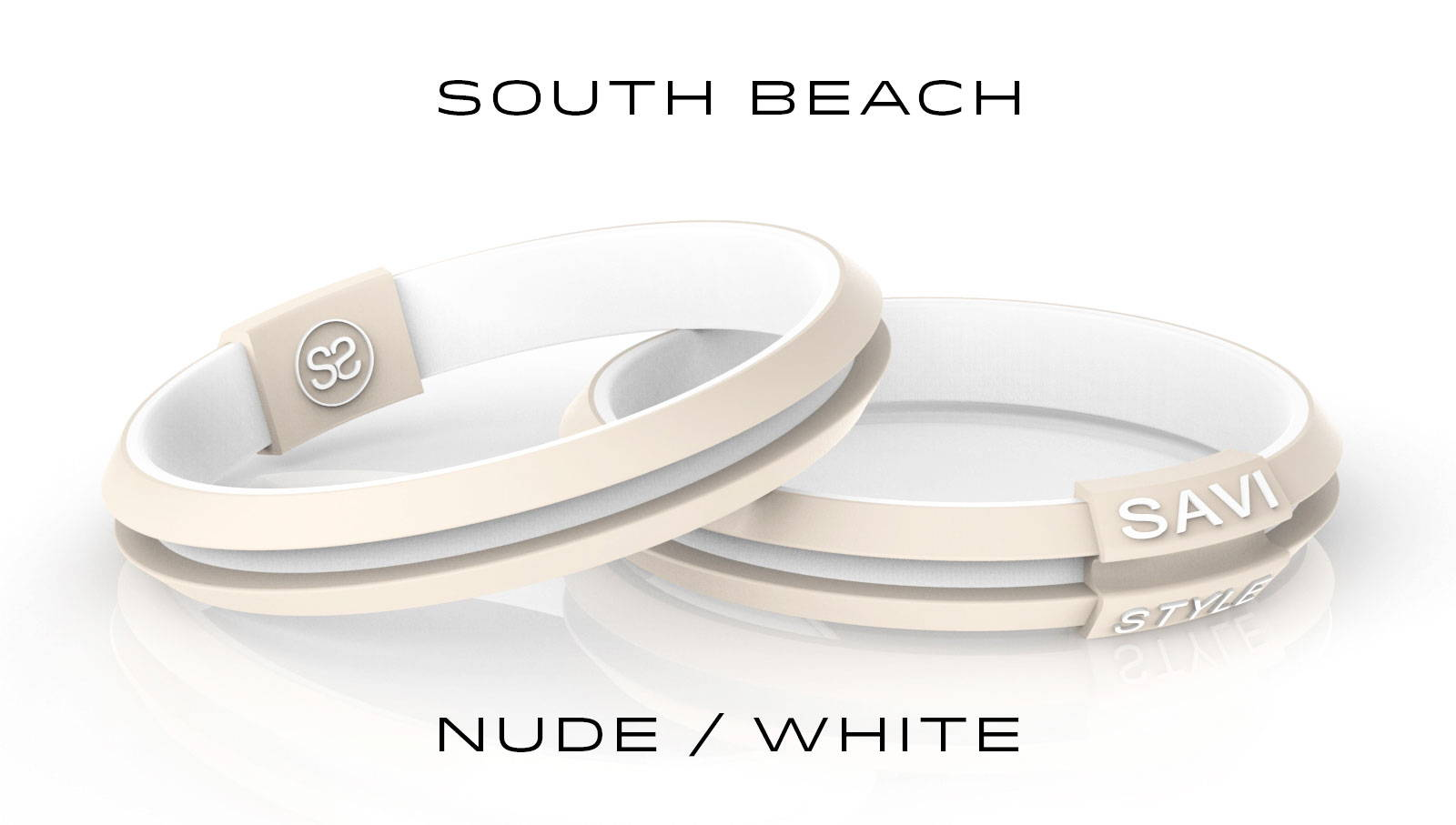 savi sleek south beach by savistyle hair tie bracelet stacked view
