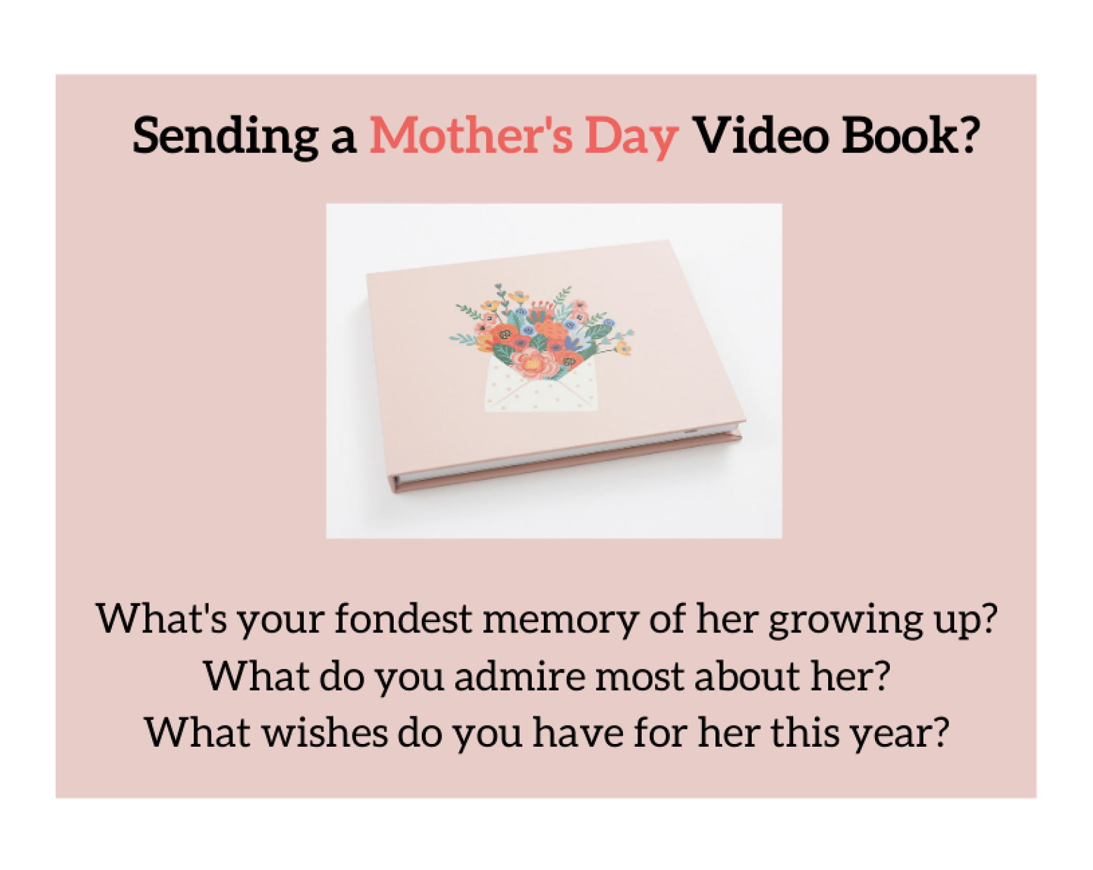 Video book with flowers on the cover
