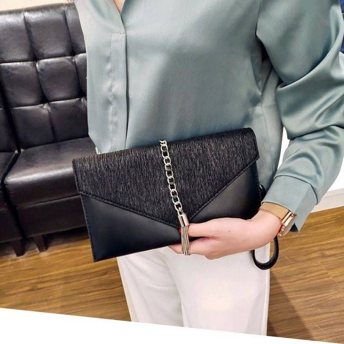 evening purse, clutch with wristlet, black leather clutch, black evening clutch, evening clutches for weddings