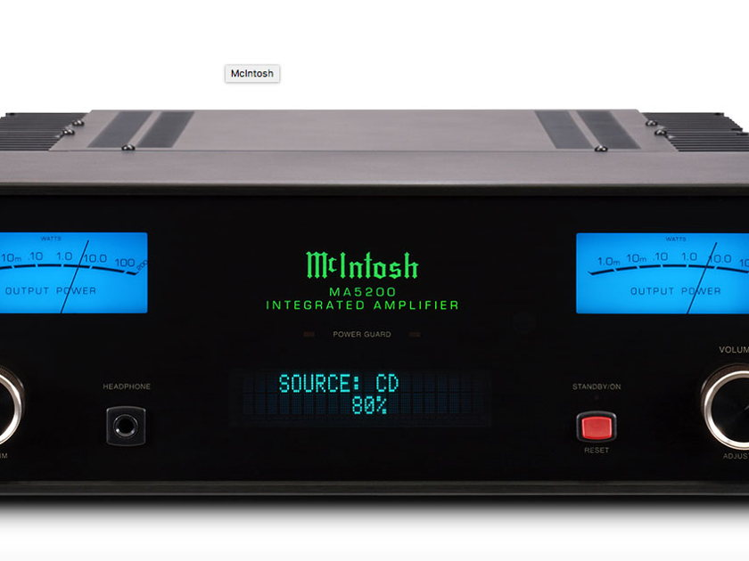 McIntosh MA5200 100W Integrated Amplifier and DAC