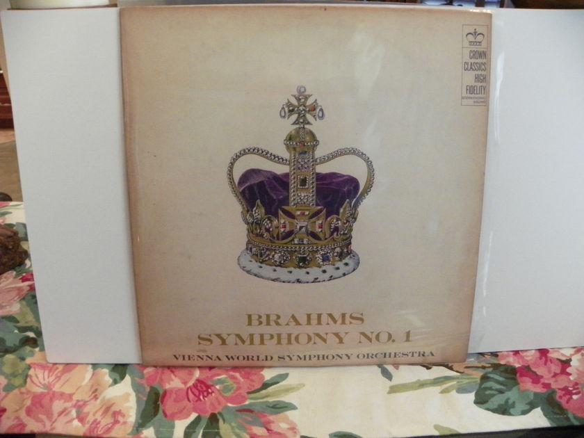 VIENNA WORLD SYMPHONY ORCH. - BRAHMS SYMPHONY NO.1 Very Rare LP