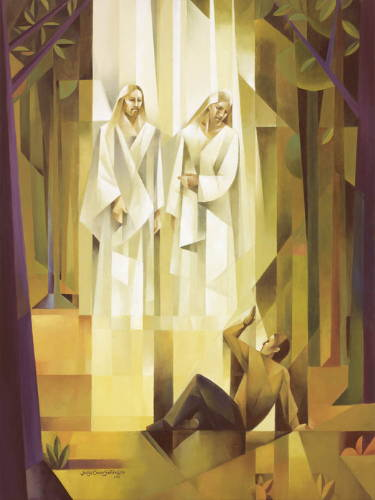 Modern painting of Jesus Christ and God the Father appearing to Joseph Smith