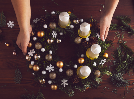 Hamburg - How to make your own DIY Christmas wreath