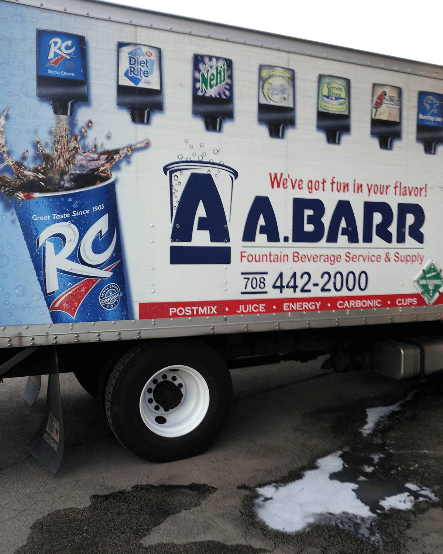 removing graffiti from semi truck