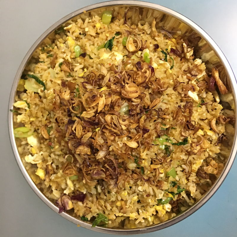Nov 24th, 2019 - Satay sauce fried rice.'