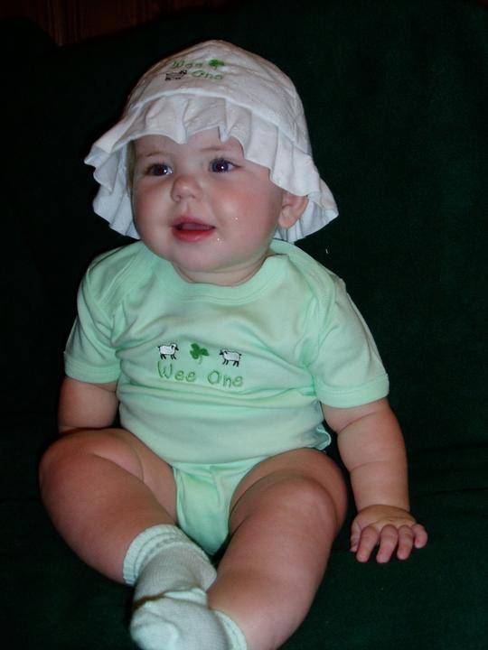 Faith and Begorra Embroidered Minty Onesie Celtic Festival Online