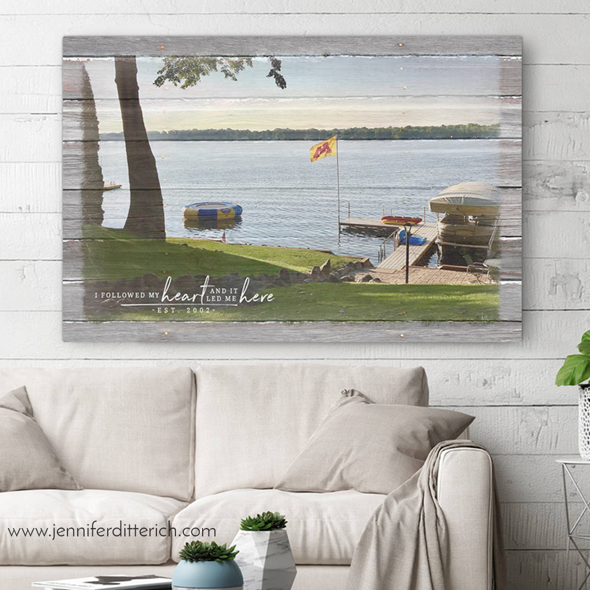 Personalized Lake Canvas Print