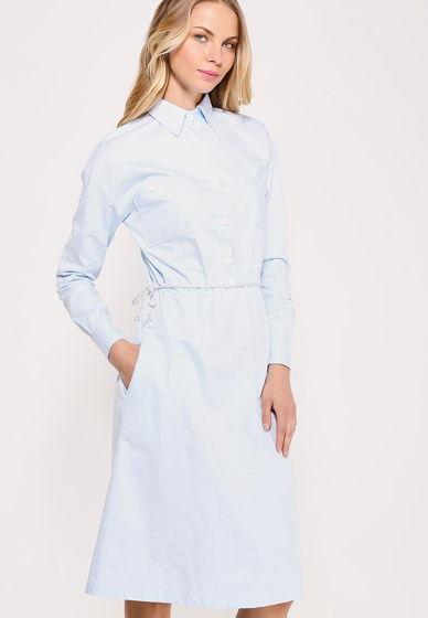 Платье рубашка голубая