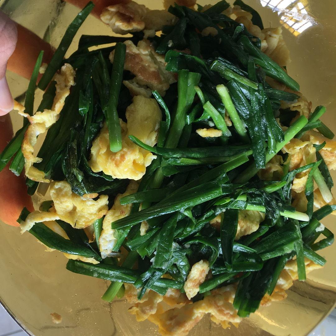 Friend shared me this recipe.  Egg+chives. Taste ok.