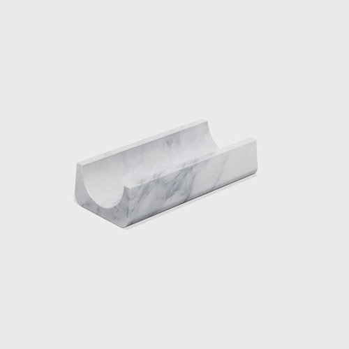 White marble modern desk accessory by Matter Made
