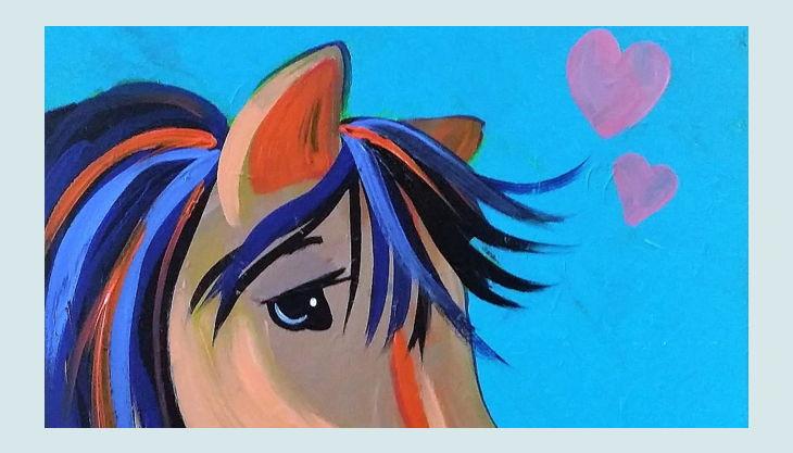 painting partys pferd