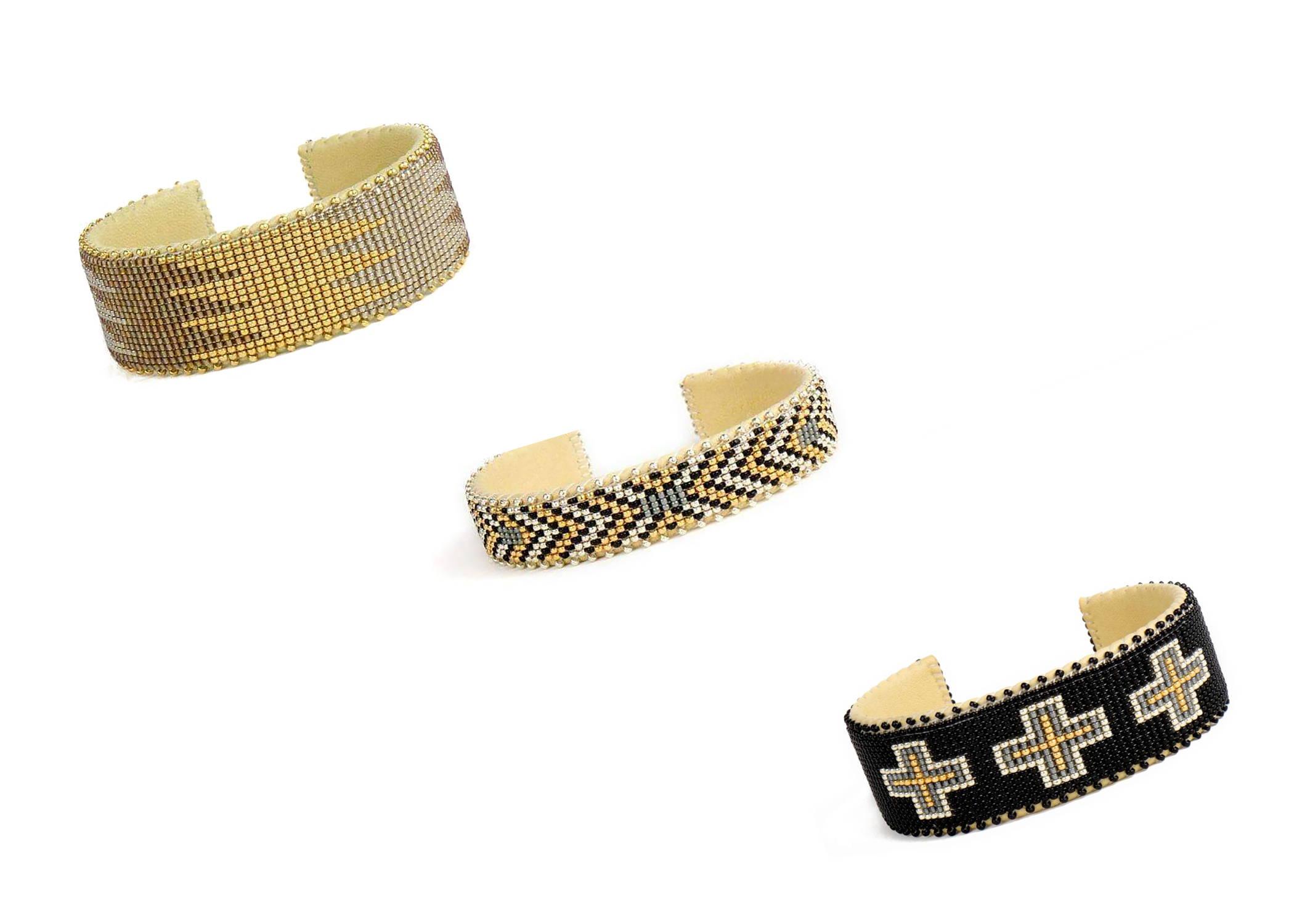 Display of Etkie Glass bead cuffs
