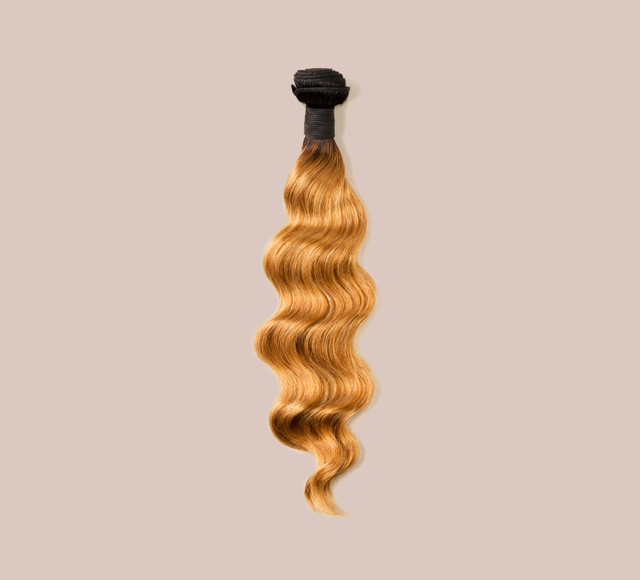 Loose Wave #27 Dark Blonde With #1b Dark Roots Bundles Mayvenn