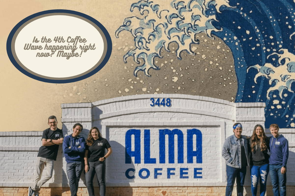 Blog Footer, with Alma employees standing in front of the Alma sign.