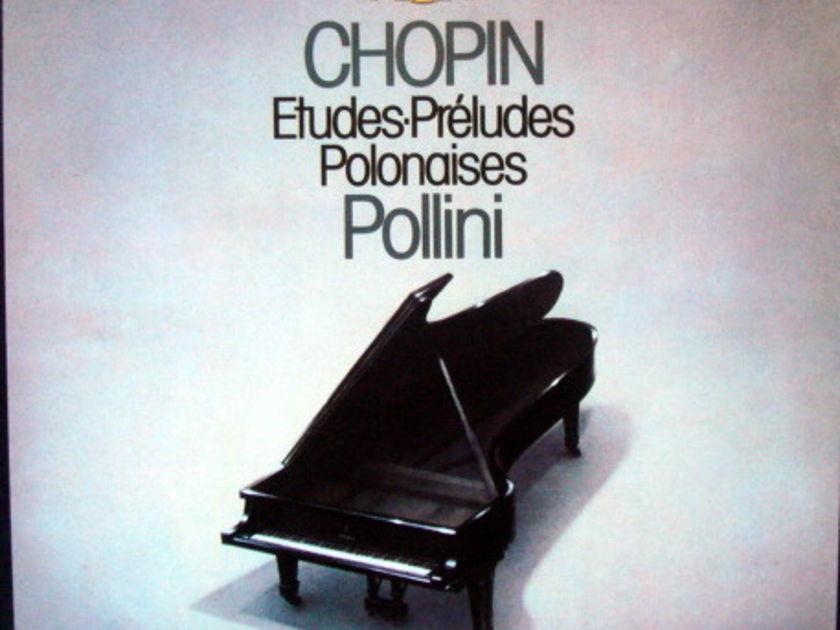 DG / Chopin Etudes-Preludes-Polonaises, - POLLINI, MINT, 3LP Box Set!