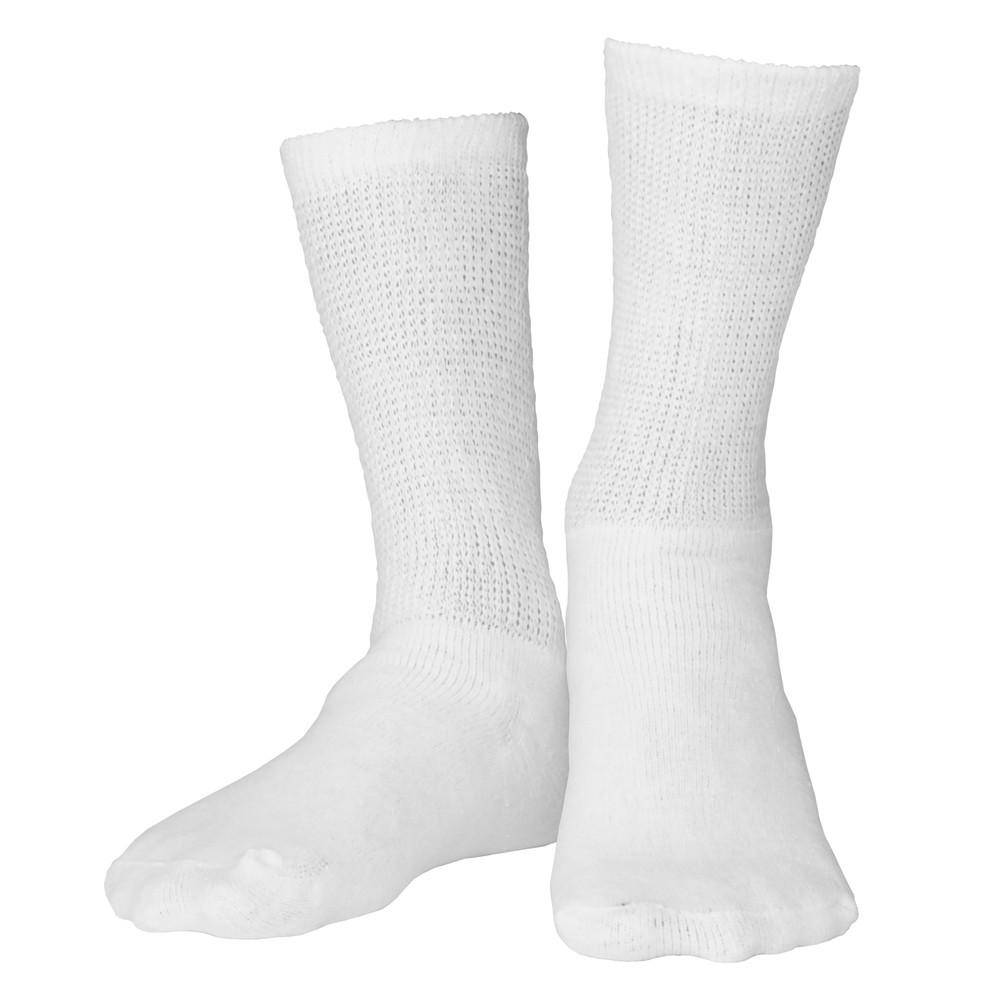 Loose Fit Crew Length Diabetic Socks