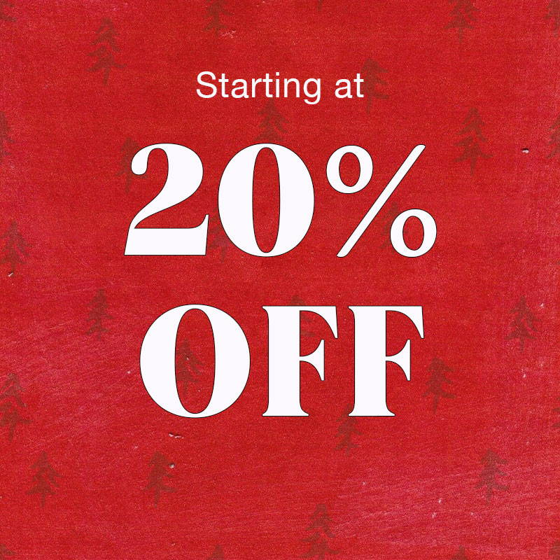 Shop Sale Starting at 20% OFF