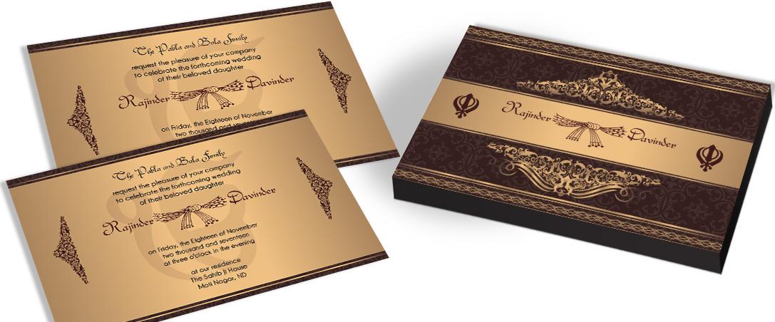 Sikh Wedding Invitation – CHOCOCRAFT