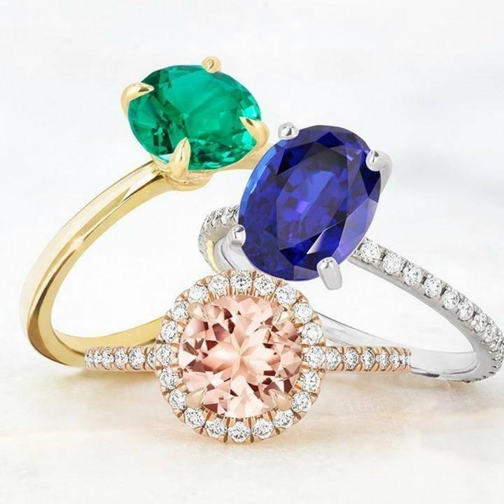 Custom Coloured Gemstone Engagement Rings Australia