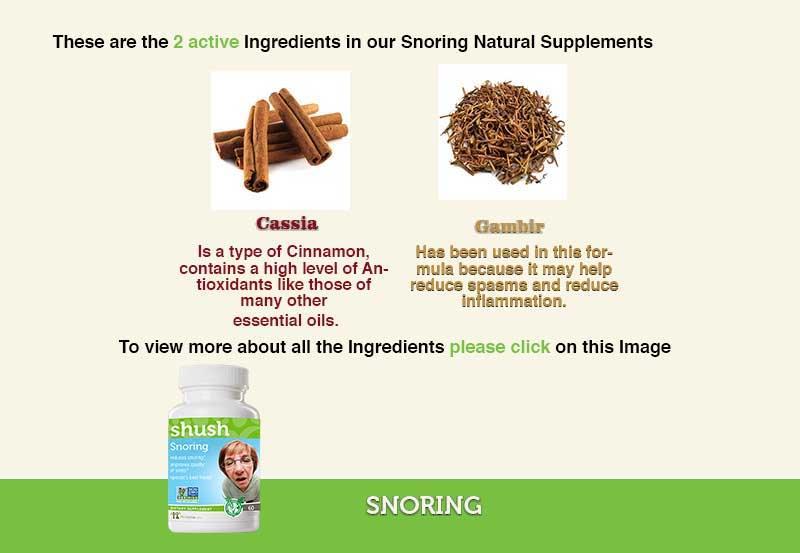 Snorinbg  Ingredients
